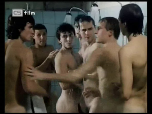 czech sportsmen showering naked
